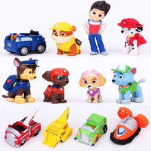 12pcs/lot Puppy Patrol Dogs Toys Figurine Cars Plastic Toy Action Figure Children Gifts puppies brinquedos patrulla canina toys(China (Mainland))