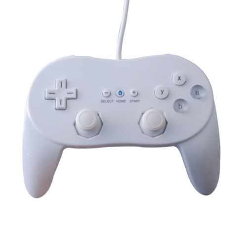 White Wired Classic Pro Controller Console Joypad For Nintendo Wii Game Remote(China (Mainland))