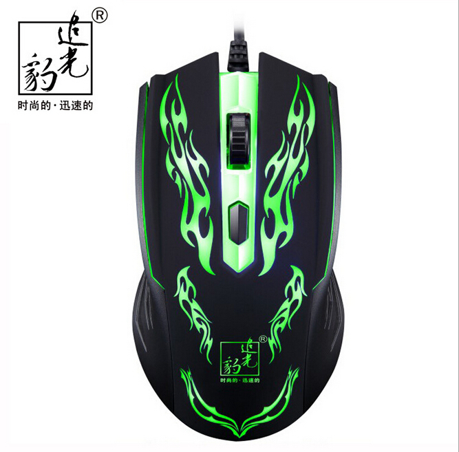 Professional Game Mouse Adjustable DPI USB Wired Led Light Optical Gaming Mouse for PC laptop Game wholesale free shipping(China (Mainland))