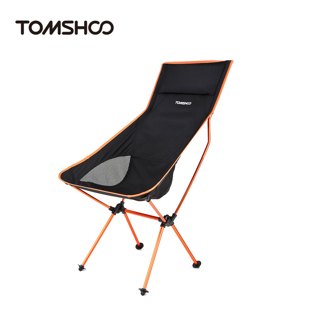 TOMSHOO New Design Portable Outdoor Camping Hiking Fishing Chair Ultra Lightweight Folding Lounger Chair with Carry Bag(China (Mainland))