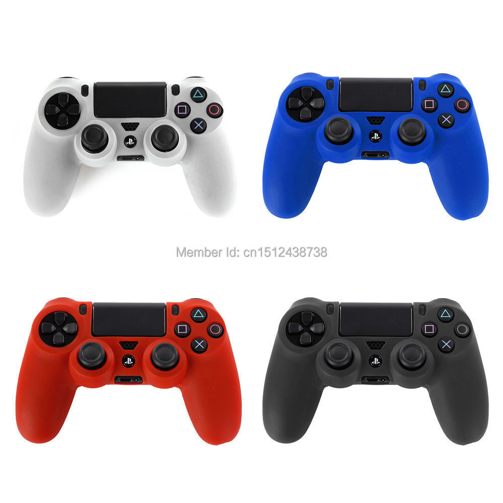 2015 New Silicone Skin Cover Case Protection Skin For SONY Playstation 4 PS4 Dualshock 4 Controller(China (Mainland))