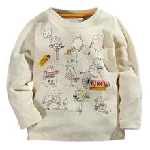 New Top Design Cute Animal Cartoon Kids Tops Boys Girls T-shirt Long Sleeve Clothing Casual Baby Boy Girl Tees Children Clothing(China (Mainland))