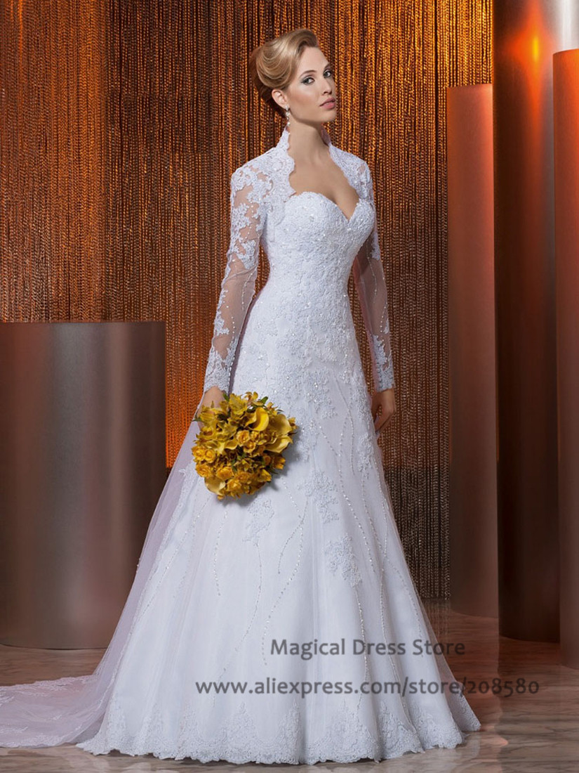 Buy China Wedding Dresses With Jacket Sweetheart Vestido Bra