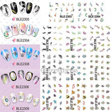 1 Lot = 11 Sheets Lizards Sea Turtle Tortois Reptiles Water Transfer Nail Art Stickers Decors Thin Sticker BLE2303-2313