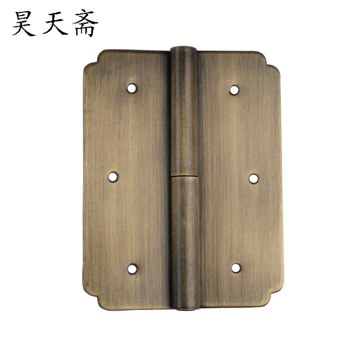 [Haotian vegetarian] antique Ming and Qing furniture copper fittings copper brass hinge hinge closet pan skin HTF097(China (Mainland))