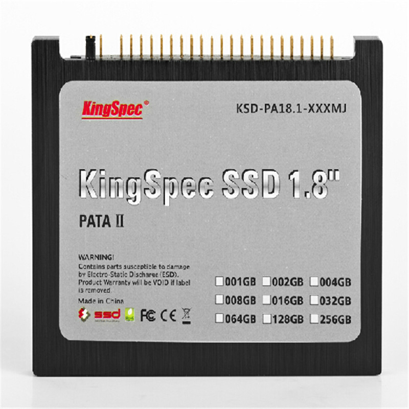 """KSD-PA18.6-128MS 128 KingSpec 1.8"""" IDE PATA SSD SOLID STATE DRIVE Disk 44 PIN for IBM X40 X41 Wholesale, free shipping(China (Mainland))"""