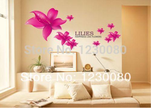 big sale lilies happiness like flowers wall art decor