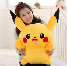 "Buy 1pcs 16"" 40cm Pikachu Plush Toys High Cute Stuffed Animal Dolls Children Toys Movie Tv kids Christmas Gift for $9.49 in AliExpress store"