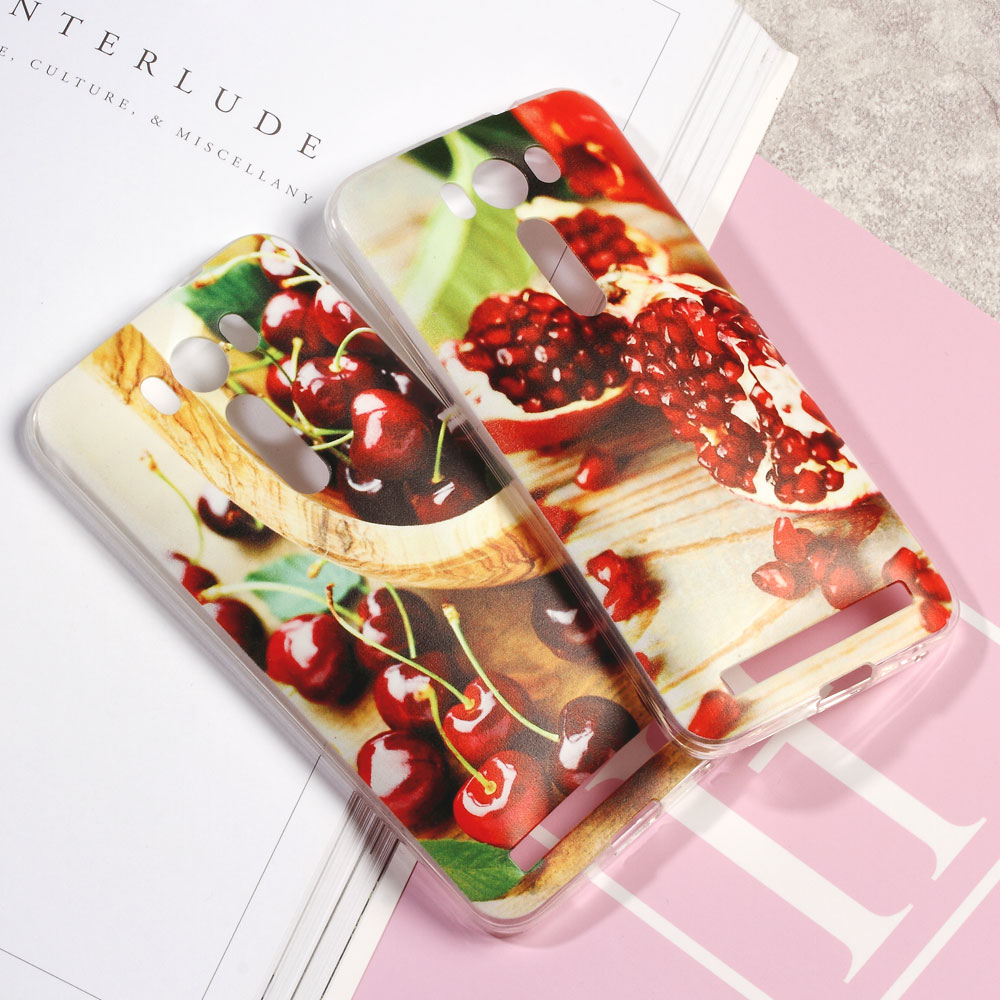 Zenfone2 Laser ZE500KG Phone Case Fruit Embossed Soft TPU Cover Bag Asus Zenfone 2 ZE500KL 5.0 Fresh Grape  -  Tvcmall online 6 Store store