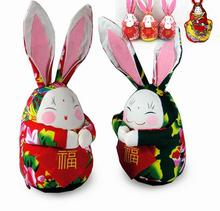 Random Delivery  new 2016 Features handmade ornaments plush toys lovely rabbit Baby birthday gift(China (Mainland))