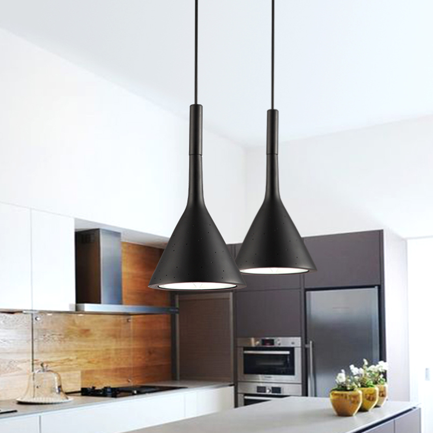 [DBF] Modern minimalist imitation concrete Decor Resin Replica LED pendant lamp for restaurant bar bedroom black  white  red (3)