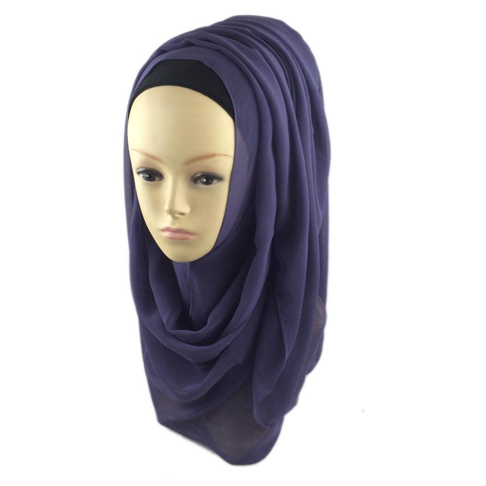 2016 new Fashion Muslim Hijab Adult Headband Georgette Shawls For Women islamic wrap Turkish Scarves cjh034z21(China (Mainland))