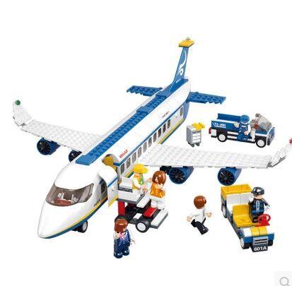 Original Sluban B0366 Air bus bricks Series Building Blocks Doll Block Enlighten educational Toys Children Gift Brinquedos(China (Mainland))