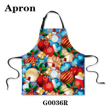 Rainbow Printing Aprons Festive Christmas Ornaments, Candy Kitchen Necessary To Prevent Oil Stains Easily Washable Apron.(China (Mainland))
