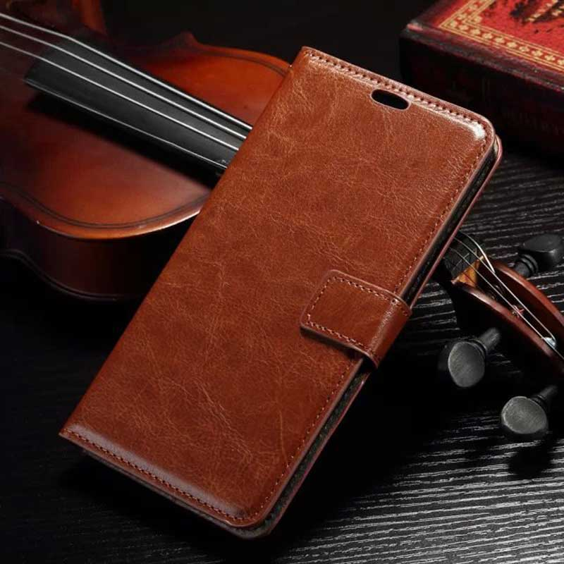 ASUS Zenfone 2 Luxury Retro Leather Wallet Flip Case Asus Zenfone2 Phone Bag Stand Cover Card Holders Capa Celular  -  Answsky Phone store