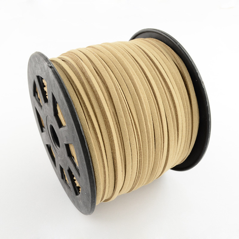 Faux Suede Cord 3x1.5mm DIY Jewelry Findings Making Bracelet Necklace Cord 100yards/roll 16colors(China (Mainland))