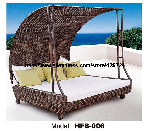 Luxury Rattan Sofa Bed With RattanTent Leisure beach Sofa Lying Lounger Outdoor Party Sofa Terrace Sun Bed balcony Lounger sofa(China (Mainland))