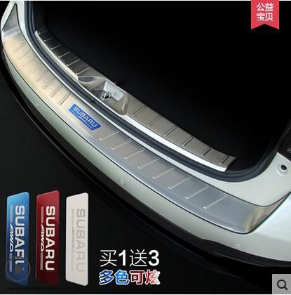13--15 new Subaru Forester set Door Sill Bumper Protector sill strip 2013 2014 2015 internal and outward 2 pcs