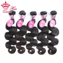 Buy Queen Hair Products 8A 5PCS Natural Color Human Hair Weave Body wave 15% Free Unprocessed Brazilian Virgin Hair for $170.00 in AliExpress store