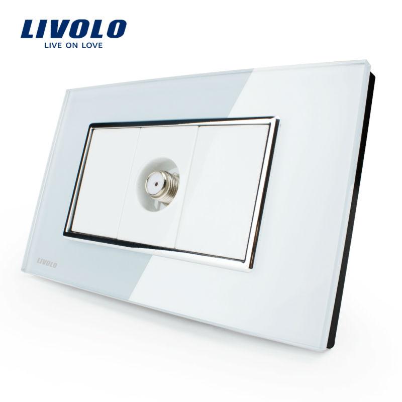 Manufacturer, Livolo US Standard Power Socket,Crystal Glass, VL-C391ST-81, Satellite TV socket(China (Mainland))