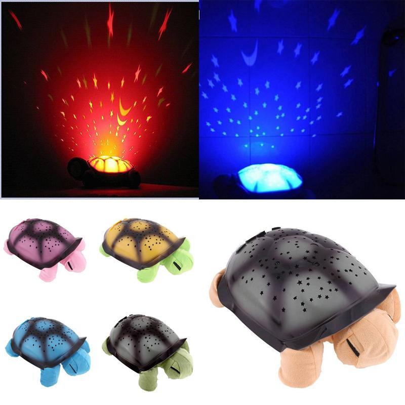 Novelty Tortoise Led Lamp Sea Turtle Light Sleep Projecting Lamp Toys TV Star Guide Nightlight 95975-95978(China (Mainland))