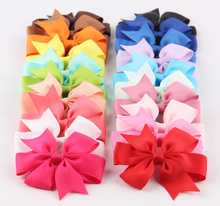 Buy 20pcs/lot 3'' Boutique Grosgrain Ribbon Hair Bows Clips Girl Hair Ties Rope Kids Headbands Hair Clips Hair Accessories for $5.60 in AliExpress store