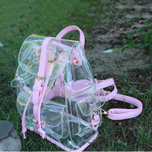 2016 Jelly Shoulder Bag Summer New Transparent Bags Korean Version Casual Female Bag Clear Personalized Backpacks(China (Mainland))