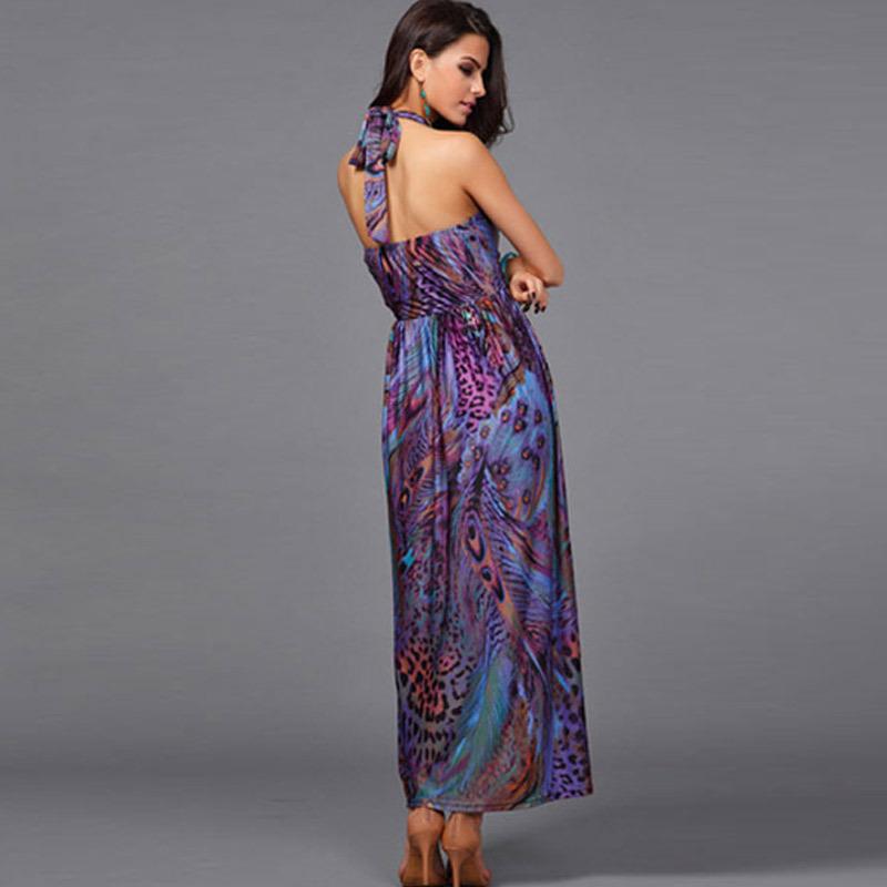 Plunging Halter Plunging Halter Maxi Dress