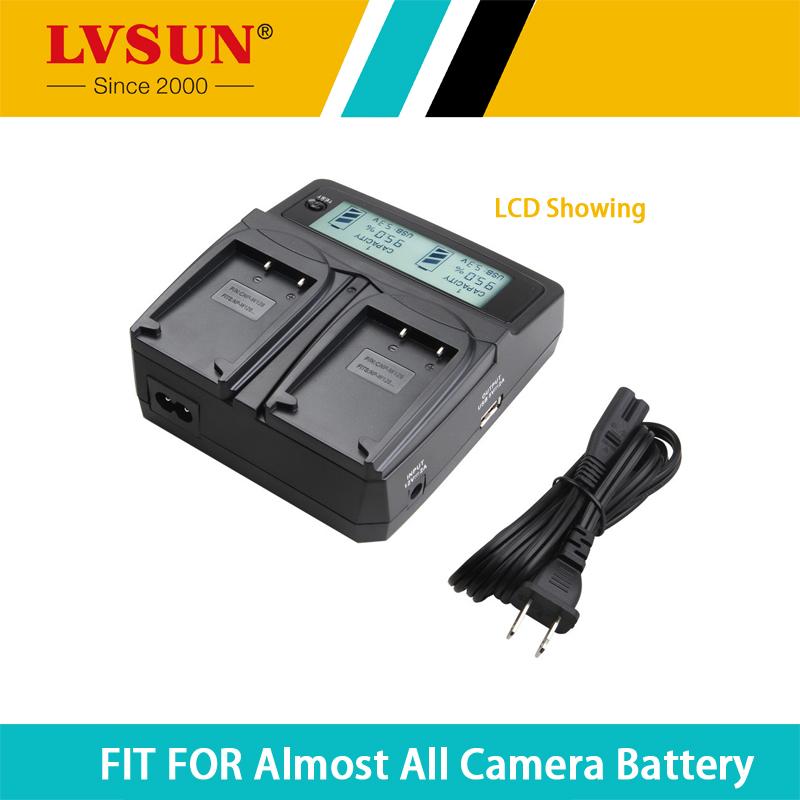 LVSUN Universal Battery Charger LCD Display for Canon BP-709 BP-718 BP-727 BP-745 BP709 BP718 BP727 BP745 HF406 R306 R32 R30 R38(China (Mainland))