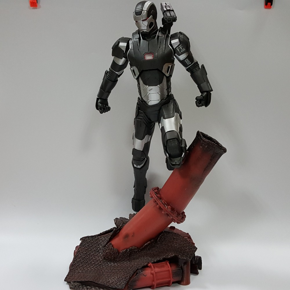 Iron Man Action Figures WAR MACHINE MK151 With Scene PVC 420mm Model Toys Iron Man Anime Movie Figures<br><br>Aliexpress
