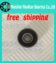 10pcs 608-2RS 608RS 608 2RS ABEC-7 8mm x 22mm x7mm black double rubber sealing cover deep groove ball bearing(China (Mainland))