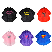 2015 6 color Popular baby boys girls  Rainwear Waterproof Kids RainCoat Child camping Raincoat Thick Cartoon Outdoor Rain Jacket(China (Mainland))