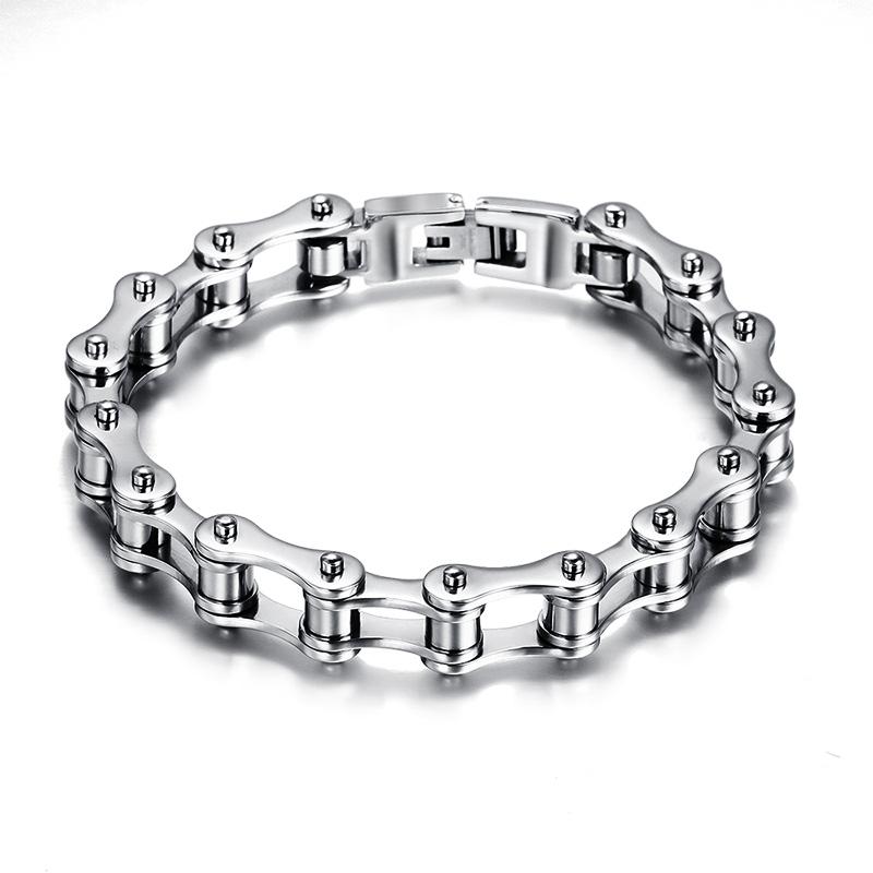 Fashion Stainless Steel Bracelet  Men  Biker Bicycle Motorcycle Chain  Bracelets Bangles Jewelry<br><br>Aliexpress