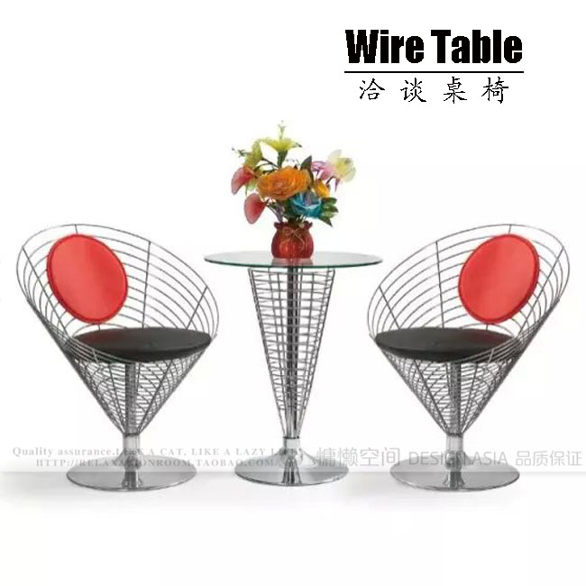 Modern minimalist table coffee table, table, tapered wire, iron wire, iron wire table, tea table, stainless steel table, stainle(China (Mainland))