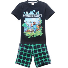2015 Brand Children Kids Boys Clothes Sets Cartoon  Boys T-Shirt + shorts sport suit Baby Boy Clothes Fit 4-14 years old(China (Mainland))
