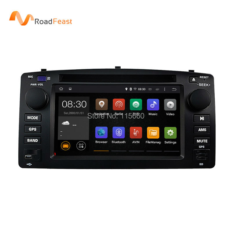 Android 5.1.1 Car DVD GPS Navigation for Toyota Corolla E120 2003-2006/BYD F3 with 1.6G CPU 1G DDR Quad Core AutoRadio Stereo(China (Mainland))