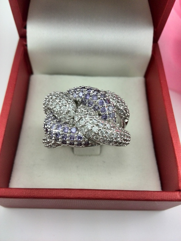 EEL latest designs high-grade 18K platinum plated ring Made Austrian Crystals Full Size - fashion jewelry store