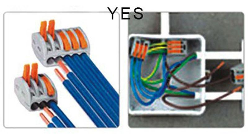 Wago connector 25 PCS PCT-212 213 215 10pcs 2P + 10pcs 3P + 5pcs 5P Universal Compact Wire Connector Conductor Terminal Block