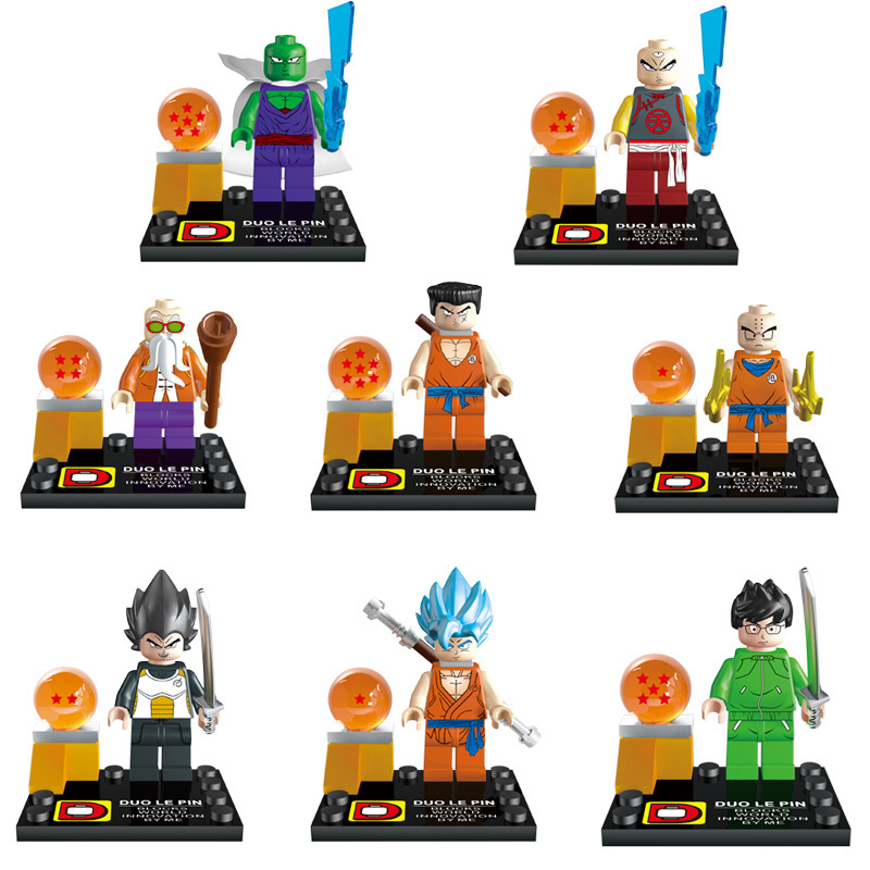 2016 New 8pcs/lot DLP 9007 Dragon Ball Z Minifigure Building Blocks Sets Figures Model Bricks Toys Compatible with lego(China (Mainland))