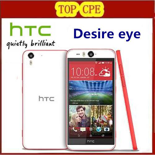 Разблокирована оригинальный HTC Desire глаз мобильный телефон с восстановленное android четырехъядерных процессоров 13MP камера 16 ГБ rom, Бесплатная доставка