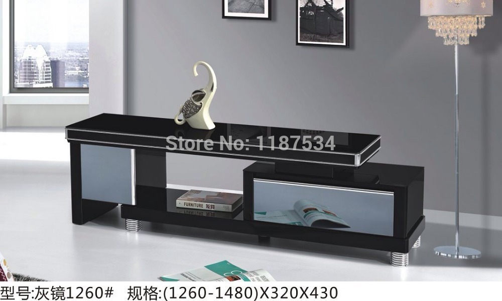 1260# Home furniture stretch wood and glass TV stand TV table TV cabinet modern TV bench stand(China (Mainland))
