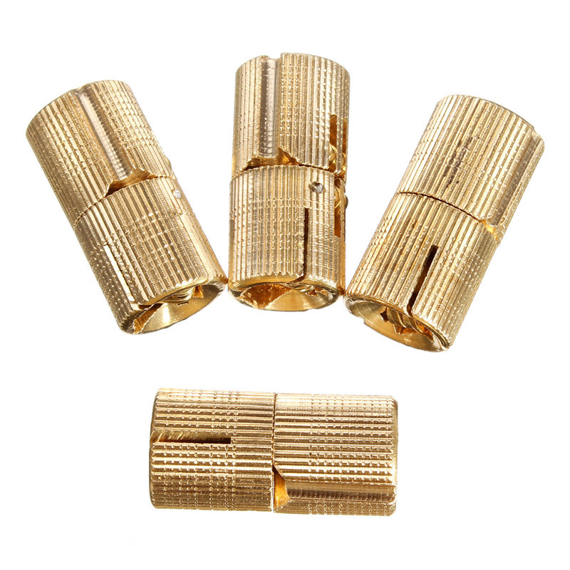 Newest 4pcs 14mm 4Pcs Brass Barrel Invisible Concealed Hinge For Lightweight Caravan Worktops Table Wholesale Price(China (Mainland))