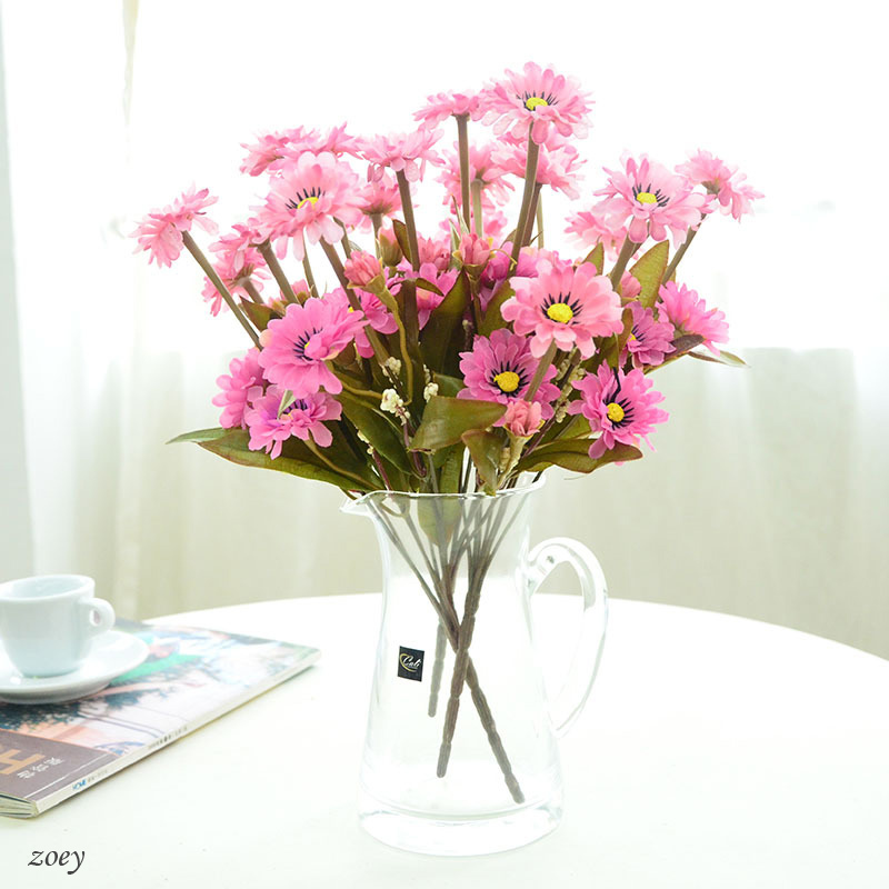 Free Shipping new arrival 7 branches colored artificial silk Chrysanthemum flower for DIY Home Decoration Pictures props(China (Mainland))