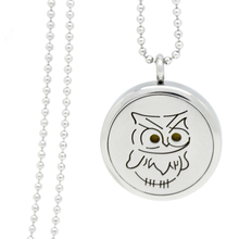 Buy Fashion Jewelry Silver Plated Locket Necklace Owl Pattern Pendant Oil Aromatherapy Diffuser Perfume Locket (Send Pad) PNR004 for $8.96 in AliExpress store