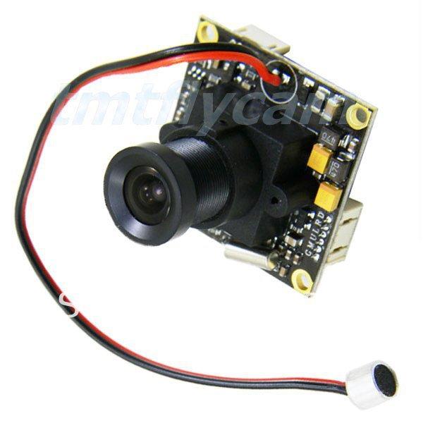 HD 700TVL 1/3 Inch Sony CCD Effio-e 960H 3.6mm/6mm/8mm Fisheye Lens CCTV Security Tiny FPV PCB Board Audio Mic A/V Mini Camera(China (Mainland))