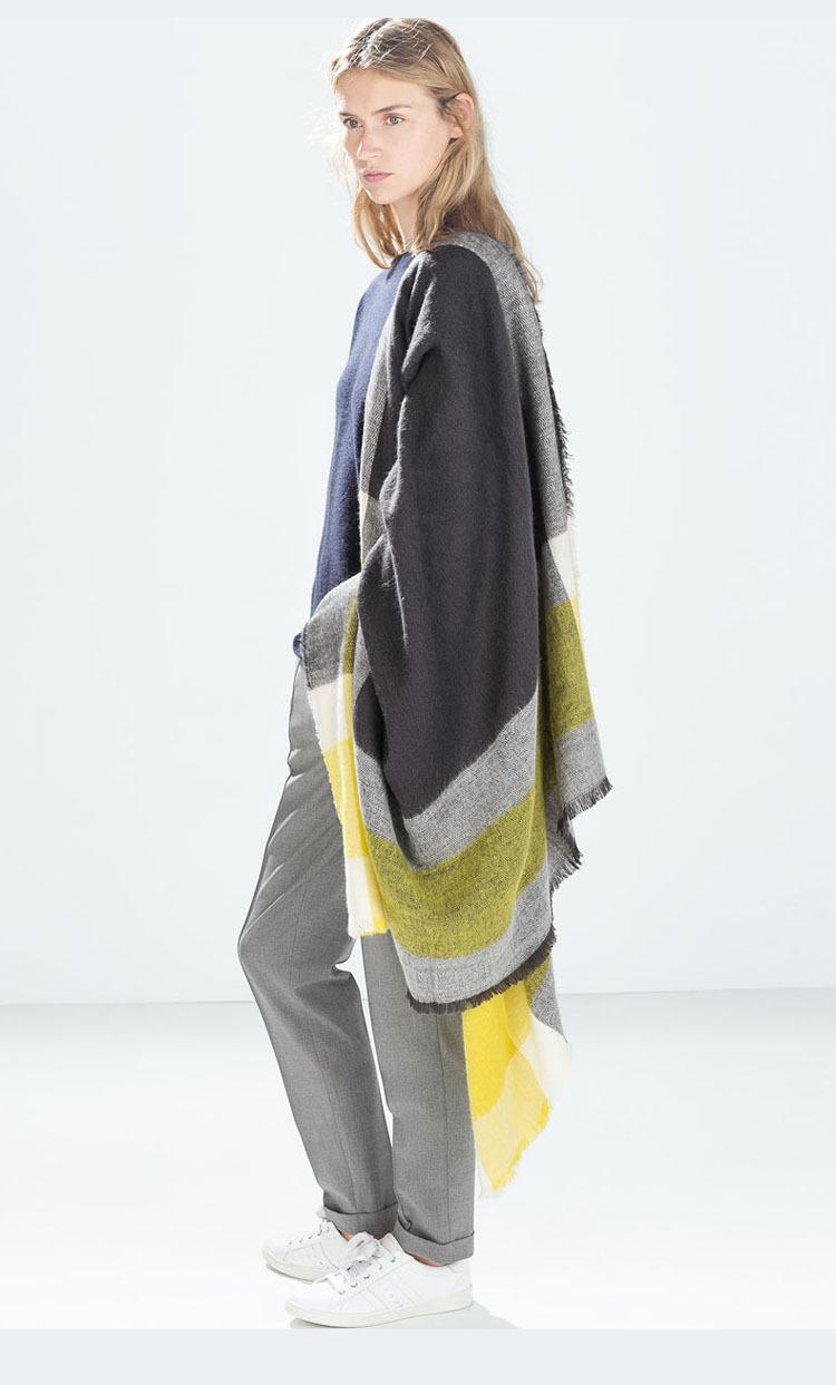 2016 Za Winter Cashmere Scarf Women Blanket Scarf Luxury Brand Designer Scarves For Women font b