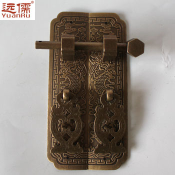 Chinese antique furniture fittings copper bronze doorknobs bookcase Teng trumpet straight handle grip от Aliexpress INT