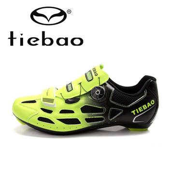 TIEBAO Профессиональные Велосипедов Велоспорт Обувь Дышащий Мужчины Женщины Дорожный Велосипед Гонки Спортсмен Обувь S2-Snap Ручку Настройки Крепления Обуви