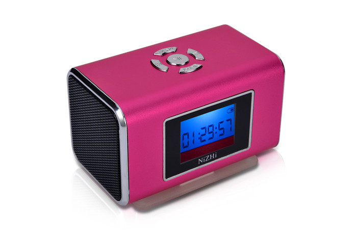 Nizhi TT6 Mini Portable Music Speaker LCD Screen Support Micro SD/TF Card FM Radio Digital Sound Box