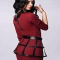 Hot Unisex Waist Belt Row Four Row Underbust Leather Harness Skirts Punk Gothic Rivet Body Bondage